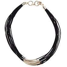 Buy John Lewis Multi Row Cord Necklace Online at johnlewis.com