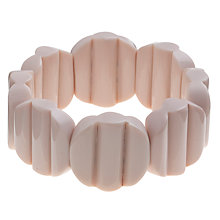 Buy One Button Lilo Bead Stretch Bracelet, White Online at johnlewis.com