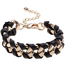 Buy COLLECTION by John Lewis Chunky Chain Faux Leather Bracelet Online at johnlewis.com