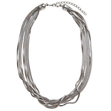 Buy John Lewis Multi Row Box Chain Necklace, Silver Online at johnlewis.com