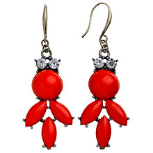 Buy COLLECTION by John Lewis Statement Glass Leaf Drop Hook Earrings Online at johnlewis.com