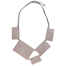 Buy One Button Short Geometric Square Diamond Necklet Online at johnlewis.com