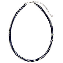 Buy John Lewis Textured Bead Cord Twist Necklace, Blue Online at johnlewis.com