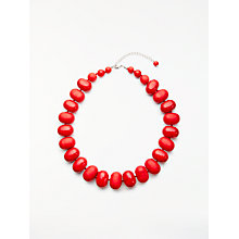 Buy John Lewis Potato Bead Acrylic Statement Necklace, Berry Online at johnlewis.com