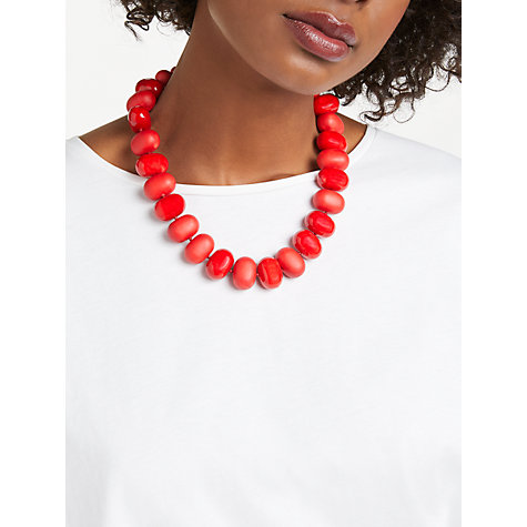 Buy John Lewis Potato Bead Acrylic Statement Necklace Online at johnlewis.com