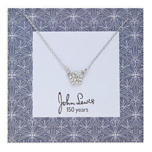 Buy John Lewis Cummersdale Print Diamante Star Pendant, Silver Online at johnlewis.com