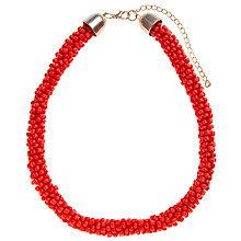 Buy John Lewis Twisted Bead Necklace, Red Online at johnlewis.com