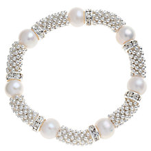 Buy John Lewis Pearl Spacer Beaded Bracelet, Silver Online at johnlewis.com