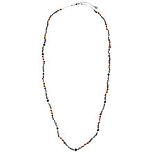 Buy One Button Long Necklace, Silver Online at johnlewis.com