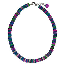 Buy One Button Diamante Rondelles Multi Disc Slices Necklace, Multi Online at johnlewis.com