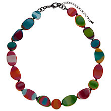 Buy One Button Short Assorted Bead Shape Necklace, Multi Online at johnlewis.com