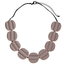 Buy One Button Short Lilo Bead Row Necklace, White Online at johnlewis.com