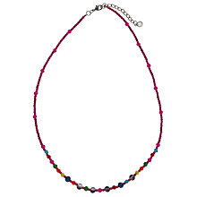 Buy One Button Middle Bead Necklace Online at johnlewis.com