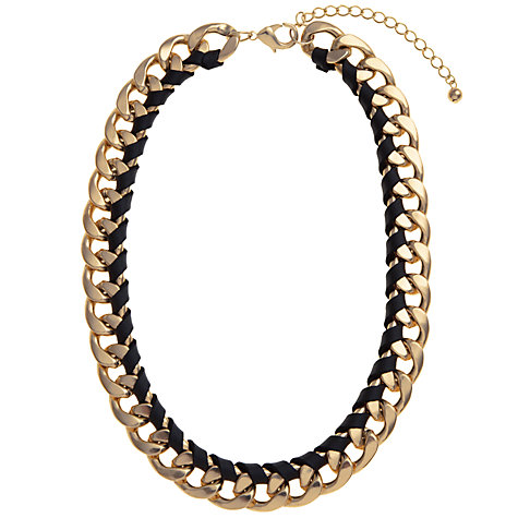 Buy COLLECTION by John Lewis Chunky Chain Faux Leather Necklace Online at johnlewis.com