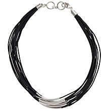 Buy John Lewis Black Multi Row Rope Copper Tubing Necklace Online at johnlewis.com