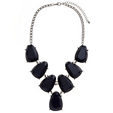 Buy John Lewis Montana Large Acrylic Jewel Necklace, Navy Online at johnlewis.com