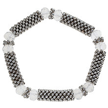 Buy John Lewis Silver Textured Facet Glass Beaded Bracelet Online at johnlewis.com