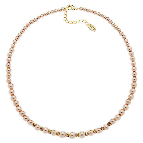 Buy Finesse Rhodium Plated Faux Pearl Necklace Online at johnlewis.com