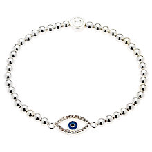 Buy Melissa Odabash Silver Plated Crystal Hamsa Bracelet Online at johnlewis.com