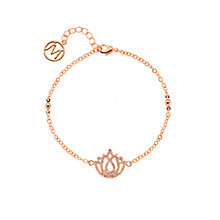 Buy Melissa Odabash Lotus Flower Crystal Bracelet, Rose Gold Online at johnlewis.com