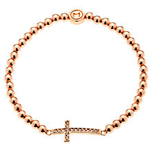 Buy Melissa Odabash Rose Gold Plated Crystal Cross Bracelet Online at johnlewis.com