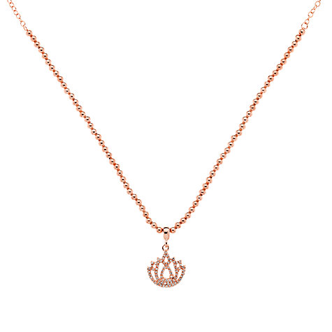 Buy Melissa Odabsh Rose Gold Plated Crystal Lotus Flower Pendant Necklace Online at johnlewis.com