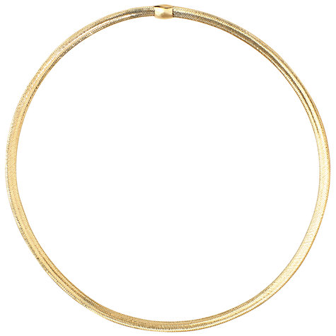 Buy A B Davis 9ct Gold Flexi Collar Necklace Online at johnlewis.com