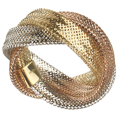 Buy A B Davis Aurium Collection 9ct Gold Tri Colour Flexi Ring Online at johnlewis.com