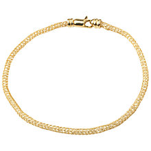 Buy A B Davis 9ct Gold Cubic Zirconia Flexi Bracelet Online at johnlewis.com