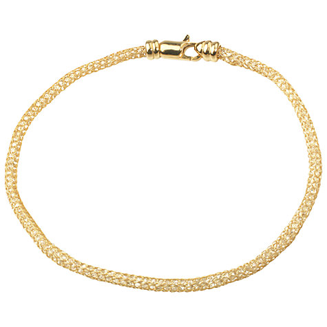 Buy A B Davis Aurium Collection 9ct Gold Cubic Zirconia Flexi Bracelet Online at johnlewis.com