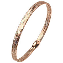 Buy A B Davis 9ct Gold Plated Flexi Mesh Bangle Online at johnlewis.com