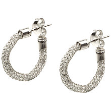 Buy A B Davis 9ct Gold Cubic Zirconia Hoop Earrings Online at johnlewis.com