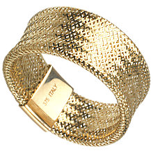 Buy A B Davis 9ct Gold Flexi Ring, Wide Online at johnlewis.com