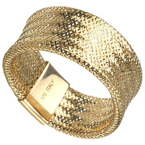 Buy A B Davis Aurium Collection 9ct Gold Flexi Wide Ring Online at johnlewis.com