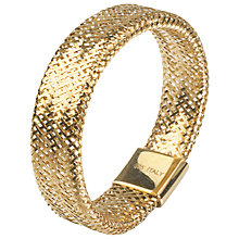 Buy A B Davis 9ct Gold Flexi Ring, Slim Online at johnlewis.com