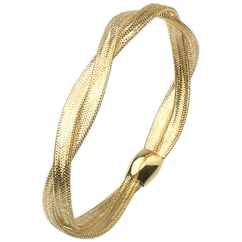 Buy A B Davis 9ct Gold Flexi Twist Bangle Online at johnlewis.com