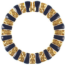 Buy Eclectica Vintage 1980s Large Enamel Link Necklace, Navy Online at johnlewis.com