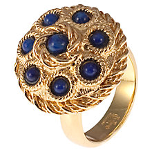 Buy Eclectica Vintage 1970s Faux Lapis Cabochon Ring, Gold / Blue Online at johnlewis.com