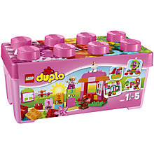 Buy LEGO DUPLO Box of Fun, Pink Bundle with Free Duplo Snail Online at johnlewis.com