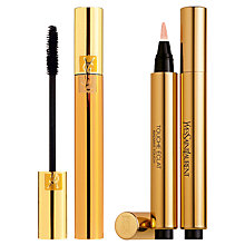 Buy Yves Saint Laurent Luxurious Mascara For A False Lash Effect, 1 Black and Touche Éclat Complexion Highlighter, 1 Online at johnlewis.com