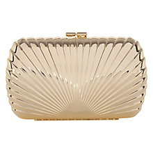 Buy Coast Sunray Clutch Bag, Gold Online at johnlewis.com