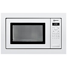 Buy Neff H56W20W3GB Built-In Microwave, White Online at johnlewis.com