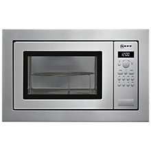 Buy Neff H56G20N3GB Built-In Microwave with Grill, Stainless Steel Online at johnlewis.com