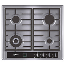 Buy Neff T23R46N0GB Gas Hob, Stainless Steel Online at johnlewis.com