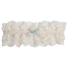 Buy Elle Macpherson Intimates Committed Love Garter, Retro Cream Online at johnlewis.com