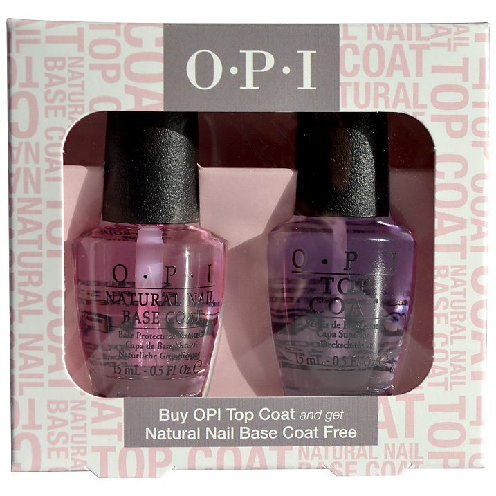 Buy OPI Nails Nail Top & Base Coat Duo, 2 x 15ml Online at johnlewis.com