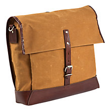 "Buy Property Of... Alfred 15"" Laptop Waxed Cotton Backpack, Mustard Online at johnlewis.com"