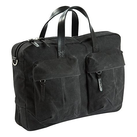 "Buy Property Of... Tommy 15"" Laptop Work Bag, Charcoal Online at johnlewis.com"