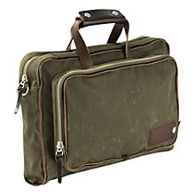 "Buy Property Of... Arnald 15"" Laptop Work Bag, Green Online at johnlewis.com"