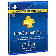 Buy PlayStation Plus - 90 Day Subscription Online at johnlewis.com